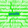 Stock Photo: Profit Word Means Revenue Earnings And Return