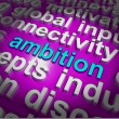 Stock Photo: Ambition Word Cloud Means Target Aim Or Goal