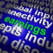 Stock Photo: Earnings Shows Wage Prosperity, Career, Revenue And Income