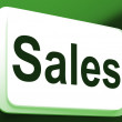Stock Photo: Sales Button Shows Promotions And Deals
