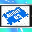 About Us Tablet Shows Contact And Company Philosophy Section — Stock Photo #40859647
