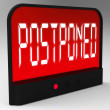 Postponed Clock Means Delayed Until Later Time — Stock Photo