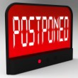 Postponed Clock Means Delayed Until Later Time — Stock Photo #40859653