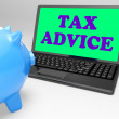 Stock Photo: Tax Advice Laptop Shows Professional Advising On Taxation