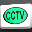 CCTV Button Shows CamerMonitoring Or Online Surveillance — Stock Photo #40859879
