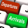 Stock Photo: Departures Arrivals Keys MeTravel And Vacation