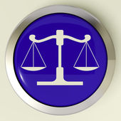 Scales Of Justice Button Means Law Trial — Stock Photo