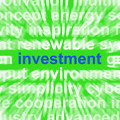 Investment Word Means Lending And Investing For Return — Stock Photo
