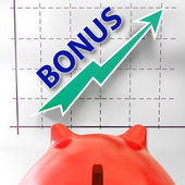 Bonus Graph Means Higher Premiums And Rewards — Stock Photo