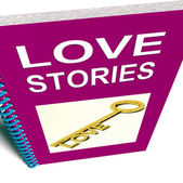 Love Stories Book Gives Tales of Romantic and loving Feelings — Stock Photo