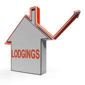 Lodgings House Shows Accommodation Or Residency Vacancy — Stock Photo