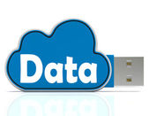 Data Memory Stick Shows Backing Up To Cloud Storage — Stock Photo