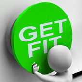 Get Fit Button Shows Physical And Aerobic Activity — Foto Stock