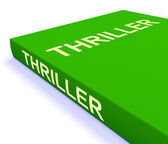 Thriller Book Shows Books About Action Adventure And Mystery — Stock Photo