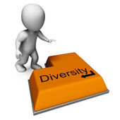 Diversity Key Means Multi-Cultural Range Or Variance — Stock Photo