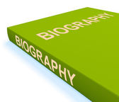 Biography Book Show Books About A Life — Stock Photo