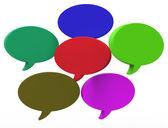 Globo blanco discurso muestra copyspace para el chat de pensamiento o idea — Foto de Stock