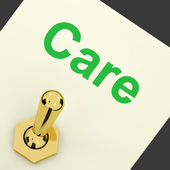Care Switch Shows Caring Careful Concern — Stock Photo