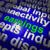 Earnings Shows Wage Prosperity, Career, Revenue And Income — Stock Photo