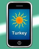 Turquia telefone significa férias e tempo ensolarado — Fotografia Stock