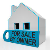 For Sale By Owner House Means No Real Estate Agent — Stock Photo