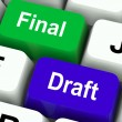 Stock Photo: Final Draft Keys Show Editing And Rewriting Document