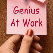 Foto Stock: Genius At Work Means Do Not Disturb
