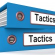 Stock Photo: Tactics Folders Show Organisation And Strategic Methods
