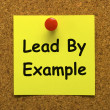 Lead By Example Note Means Mentor And Inspire — Stock Photo #40860841