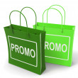 Stock Photo: Promo Bags Show Discount Reduction or Sale