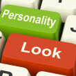 Look Personality Keys Shows Character Or Superficial — Stock Photo #40861415