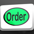 Order Button Shows Buying Online In Web Stores — Stock Photo #40861535