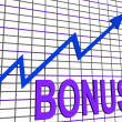 Bonus Chart Graph Shows Increase Reward Or Perk — Stock Photo #40862245