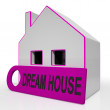 Stock Photo: Dream House Home Shows Purchase Or Construct Perfect Property