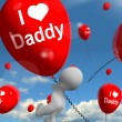 I Love Daddy Balloons Shows Affectionate Feelings for Father — Stock Photo #40862507