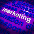 Marketing In Word Cloud Means Market Advertise Sales — Stock Photo #40863285