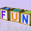 Stock Photo: Fun Blocks MeJoy Pleasure And Excitement