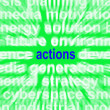 Stock Photo: Actions Word Shows Behaviour Manner And Conduct