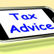 Stock Photo: Tax Advice On Phone Shows Taxation Help Online