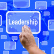 Stock Photo: Leadership Touch Screen Shows Leader Vision Achievement