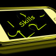 Foto Stock: Skills Smartphone Means Knowledge Abilities And Competency