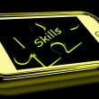 Foto de Stock  : Skills Smartphone Means Knowledge Abilities And Competency