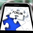 Stock Photo: Forum Smartphone Means Online Networks And Chat