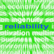 Zdjęcie stockowe: Reliability Word Means Honest Trustworthy And Dependable