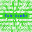 Stock Photo: Fair Trade Words MeFairtrade Products And Merchandise