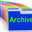 Archive Folders Show Documents DatAnd Backup — Stock Photo #40864683