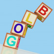 Stock Photo: Blog Blocks Show Blogger Internet And Niche