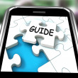 Guide Smartphone Means Web Instructions And Help — Stock Photo