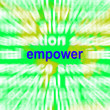 Stock Photo: Empower Word Cloud Means Encourage Empowerment
