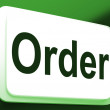 Order Button Shows Buying Online In Web Stores — Stock Photo #40865237